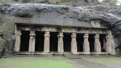 Entrance to other caves at Elephanta
