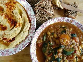 Morroccan chickpeas & veggies