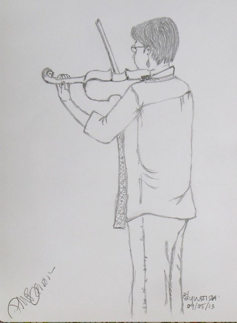 Sketch of A Violinisit