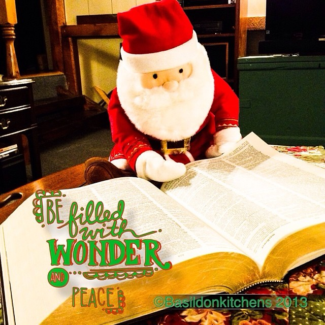 Dec 5 - Santa {I found him checking his list this morning} #photoaday #christmas #santa #checkinghislist