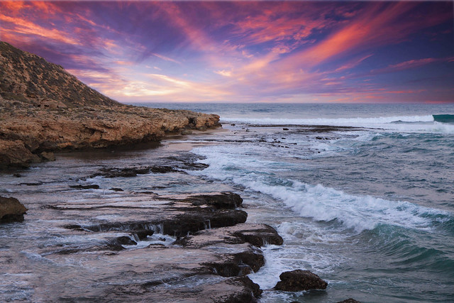 Sunrise at Red Bluff, Quobba