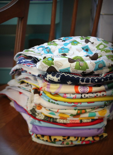 20130928. My fetuses cloth diaper stash is about complete for now.