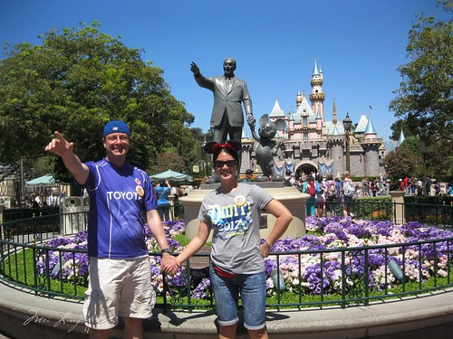 With Walt and Mickey in Disneyland