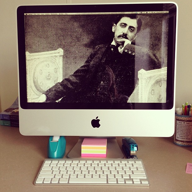 I would like to welcome M. Marcel Proust to my office. BIENVENUE!