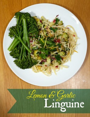 Lemon Garlic Linguine with Broccoli