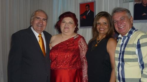 Raul e Laura Loureiro com Ana Elvira Alho e Naldo Coimbra