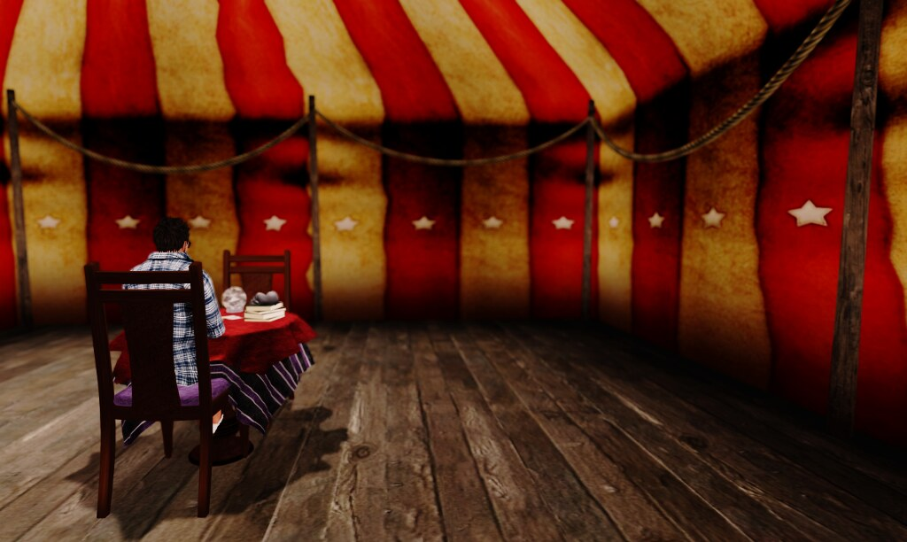 At a fortune teller tent