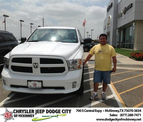 Thank you to Gerardo Sanchez on the 2013 Ram 1500 from Brent Villarreal and everyone at Dodge City of McKinney! by Dodge City McKinney Texas