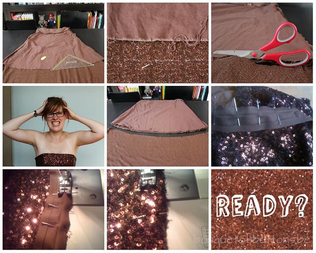 collage shorten dress collage jurk inkorten