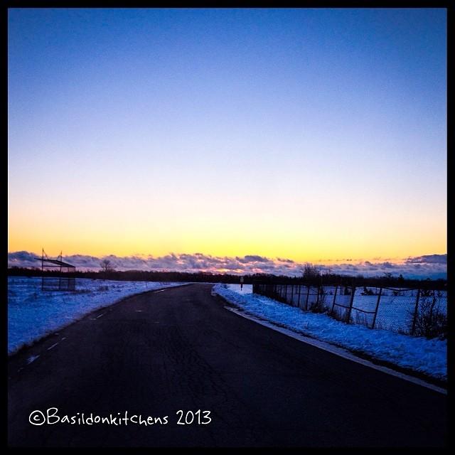 Nov 29 - light source {my fav; the rising sun} #photoaday #sunrise #princeedwardcounty #snow #winter
