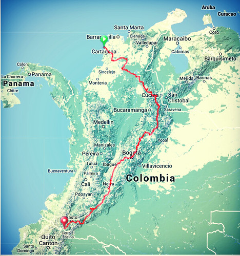 Map - Full Colombia Routeb