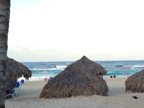 Tiki Huts on Beach at Hard Rock Hotel - Punta Cana