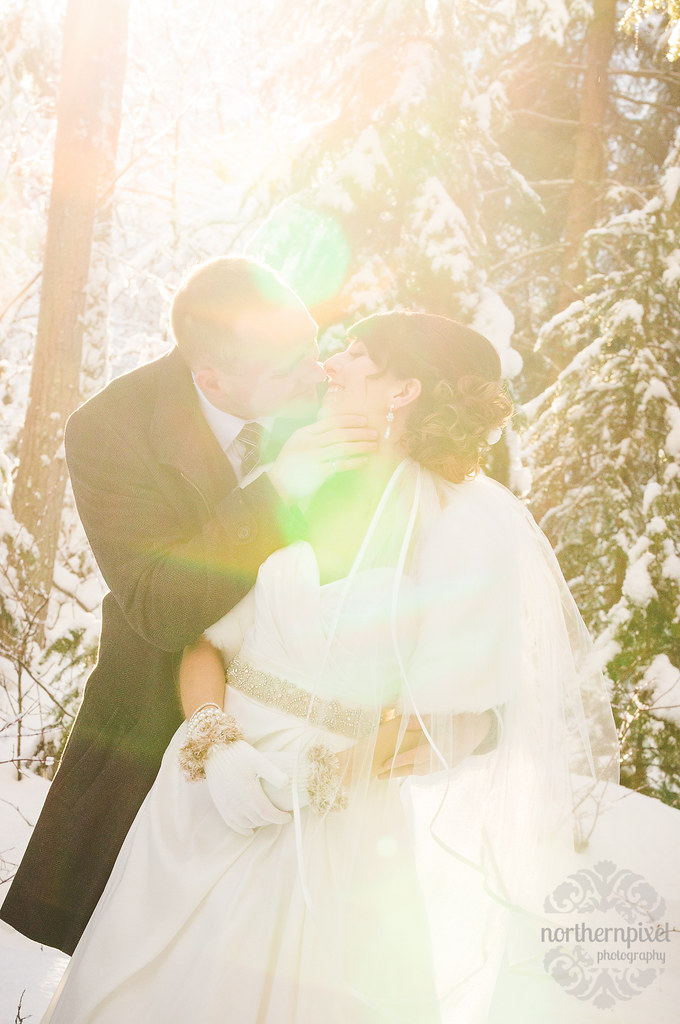 Winter Wedding Sunflare