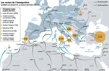 14e06 LMonde Rutas de la inmigración hacia Europa Uti 465