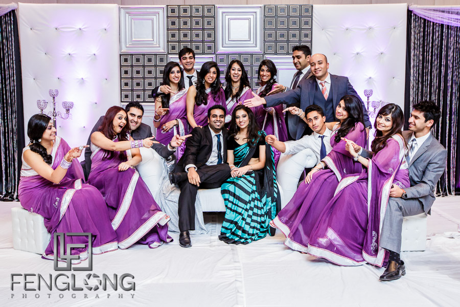 Guests taking fun photos at their Atlanta Ismaili Indian wedding