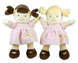 Brunette and Bolnde Dolls