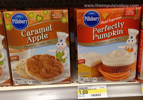 Pillsbury Caramel Apple and Perfectly Pumpkin Premium Cake Mixes