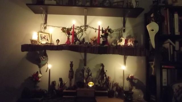 Artemis and Hekate + assorted gods shrine