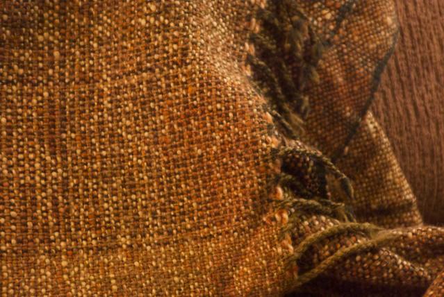 End of blanket including fringes