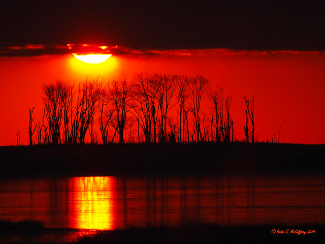 Sunrise disappearing