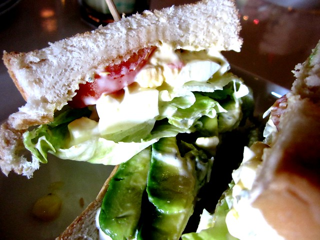 Egg and avocado sandwich 2
