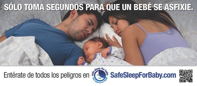 Safe Sleep for Baby Outdoor Advertising - Spanish