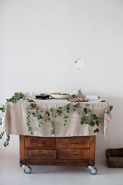 mesa hojas