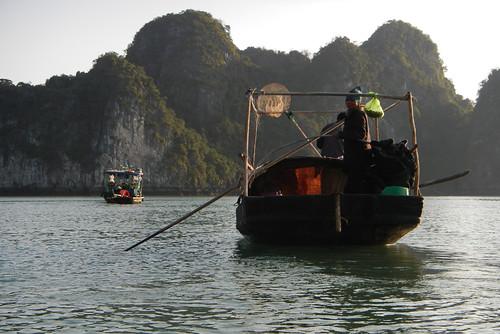 Fishing Boats in Halong Bay, Vietnam