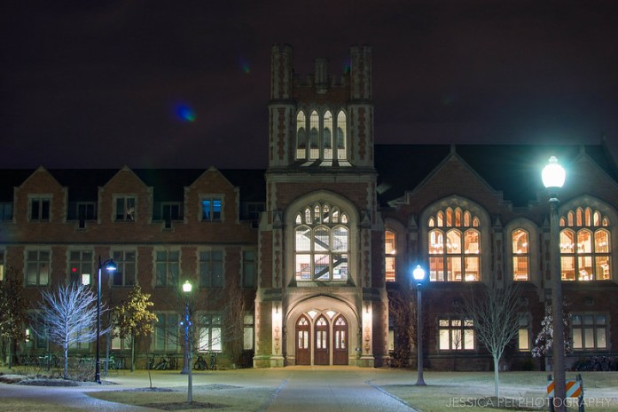WUSTL Law School at Night