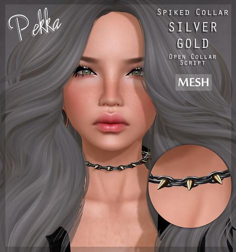 pekka spiked collar silver gold