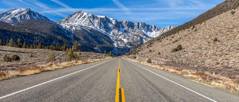 The Tioga Pass road SR 120, California, USA