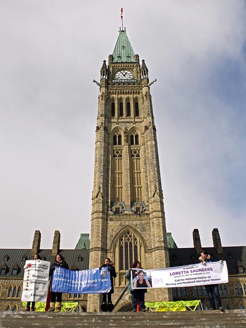 Loretta Saunders Vigil/Rally: March 5, 2014