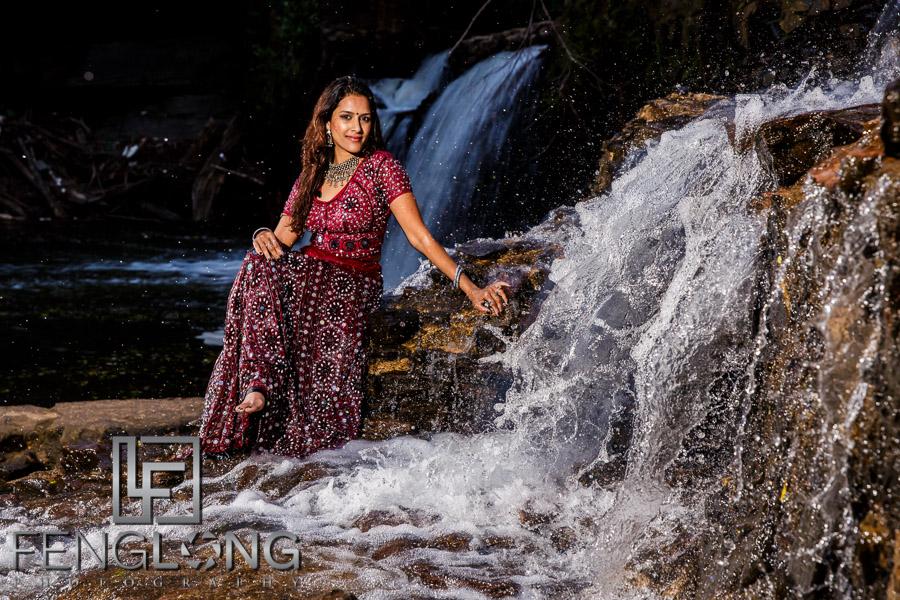 Trash the saree Indian pre-wedding photography