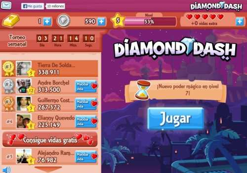 Menu Diamond Dash