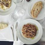 mushroom risotto at the river cafe