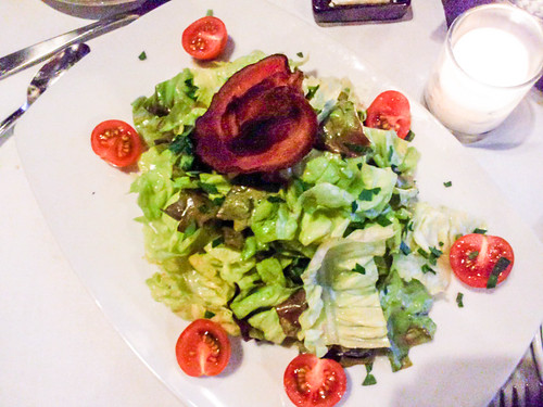 salad (that's bacon on top)