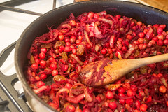 Cooking Beets & Beans & Onions