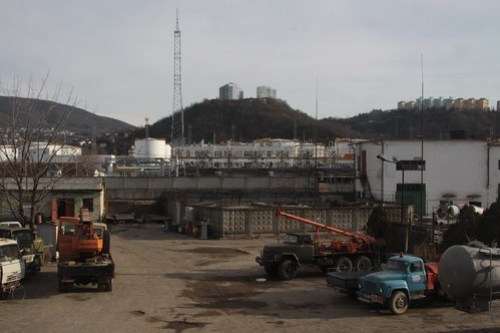 Heavy industry in the Russian city of Tuapse