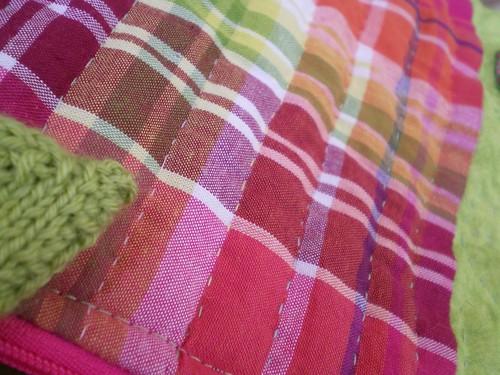 patchwork trousse vert rose