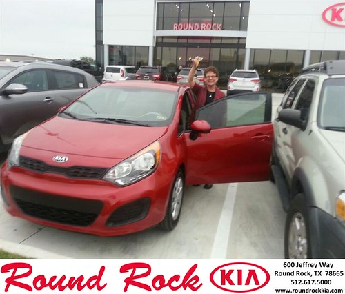 Thank you to Scarlett Tindell on your new 2013 #Kia #Rio from Rudy Armendariz and everyone at Round Rock Kia! #LoveMyCar by RoundRockKia
