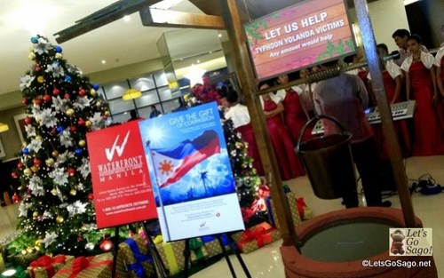 """The """"Wishing Well"""" dedicated to Yolanda Victims open for donations until January 5, 2014,"""
