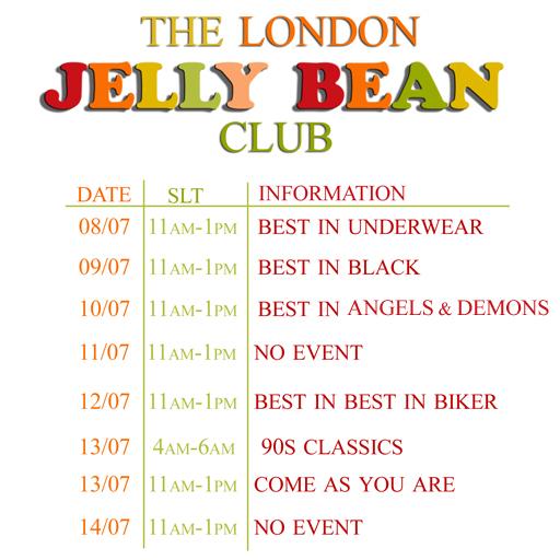 Jelly Bean Schedule 8.7.13