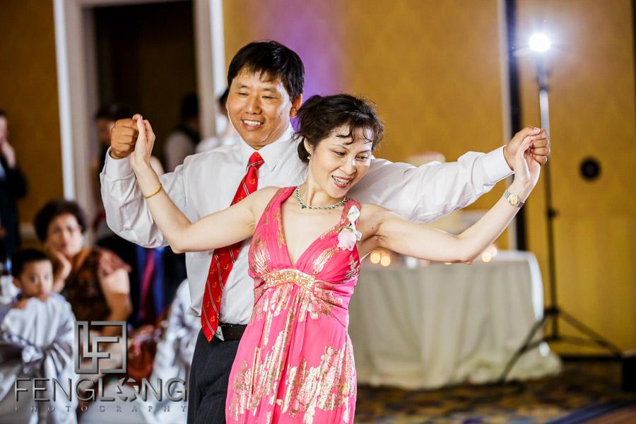 Groom's parents dance performance