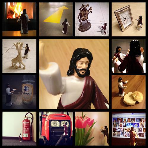 Jesus looking at things