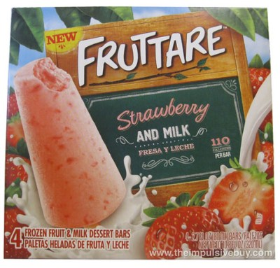 Fruttare Strawberry and Milk Frozen Fruit and Milk Dessert Bar Box