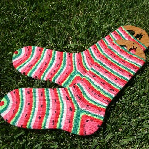 Finished Watermelon Socks 4
