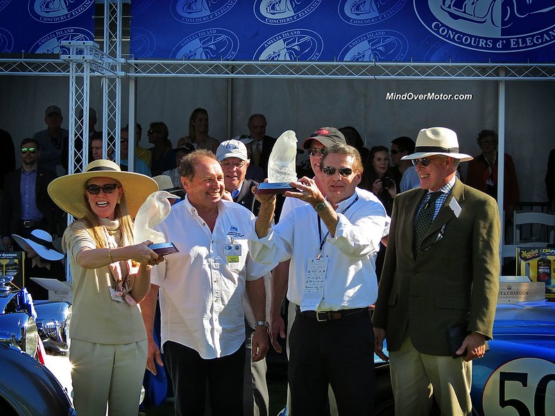 2014 Amelia Island Concours d'Elegance Best in Show Winners with Jochen Mass