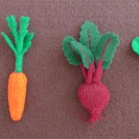 Tiny Felt Vegetables