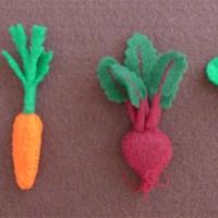 Tiny Felt Vegetables