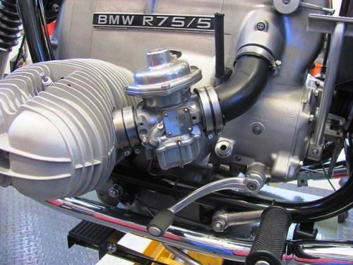 Left Carburetor, Bushings and Air Tube Installed